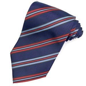Ermenegildo Zegna Italy Striped Classic Silk Tie.